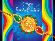 Abstract artistic raksha bandhan background. Vector illustration Stock Photography