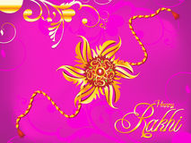 Abstract artistic raksha bandhan rakhi. Vector illustration stock illustration