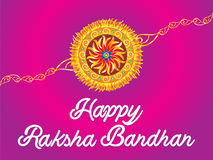 Abstract artistic raksha bandhan. Vector illustration royalty free illustration