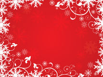 Abstract artistic red christmas background. Vector illustration Vector Illustration