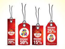 Abstract artistic red christmas tags. Vector illustration Royalty Free Illustration