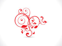 Abstract artistic red floral heart. Illustration Royalty Free Illustration