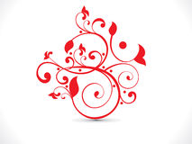 Abstract artistic red floral om text Royalty Free Stock Photos