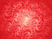 Abstract artistic red floral pattern background Royalty Free Stock Image