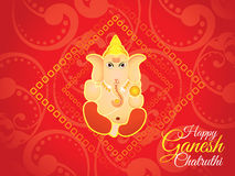 Abstract artistic red ganesh chaturthi background. Vector illustration Royalty Free Illustration