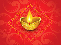 Abstract artistic red golden diwali. Vector illustration Stock Photos