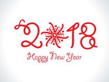 Abstract artistic red new year text. Vector illustration Royalty Free Stock Photography