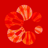 Abstract Artistic Red Spinner Stock Photography