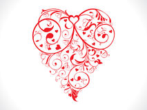 Abstract artistic red valentine heart background. Vector illustration Stock Illustration