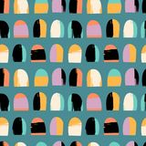 Abstract artistic seamless pattern with trendy hand drawn textures Stock Photo