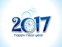 Abstract artistic shiny blue new year text. Vector illustration Stock Photography