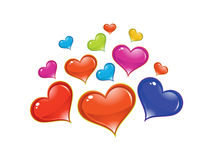 Abstract artistic shiny colorful heart background. Vector illustration Royalty Free Stock Images