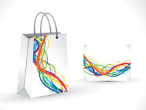 Abstract artistic shopping bag. Vector illustration Royalty Free Stock Images