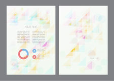 Abstract artistic soft light shapes. Vector background Royalty Free Stock Photography