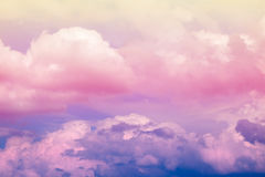 Abstract artistic soft pastel colorful cloud sky for background Royalty Free Stock Images
