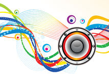 Abstract artistic sound background. Vector illustration stock illustration