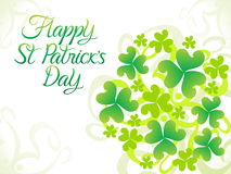 Abstract artistic st patrick background Royalty Free Stock Image