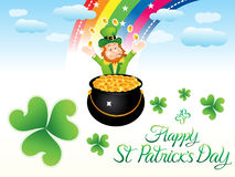 Abstract artistic st patrick background. Vector illustration Stock Photos