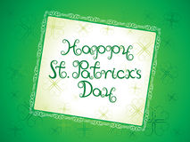 Abstract artistic st patrick background Royalty Free Stock Photos