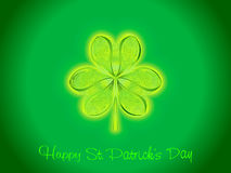 Abstract artistic st patrick clover Stock Images