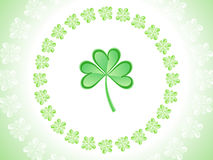 Abstract artistic st patrick clover Royalty Free Stock Photography