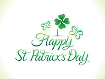 Abstract artistic st patrick day background Stock Photos