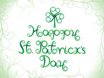 Abstract artistic st patrick day background. Vector illustration Stock Photography