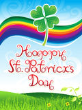 Abstract artistic st patrick day background. Vector illustration royalty free illustration