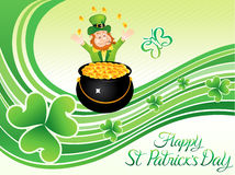 Abstract artistic st patrick day background Stock Images