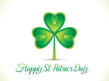 Abstract artistic st patrick day clover Royalty Free Stock Image