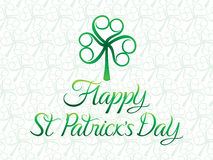 Abstract artistic st patrick day clover. Vector illustration royalty free illustration