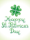Abstract artistic st patrick day clover. Vector illustration stock illustration