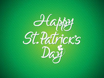 Abstract artistic st patrick text Stock Images