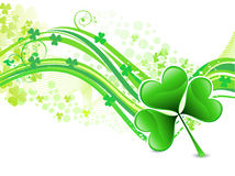 Abstract artistic st patrick wave background Royalty Free Stock Photos