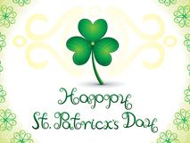 Abstract artistic st patricks clover background. Vector illustration Stock Image