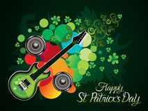 Abstract artistic st patricks music background. Vector illustration stock illustration