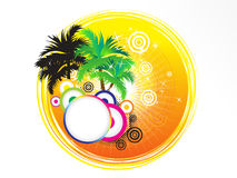 Abstract artistic summer holiday theme. Vector illustration Royalty Free Stock Photos