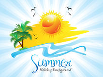 Abstract artistic summer holiday. Vector illustration Stock Image