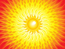 Abstract artistic sun beam background. Vector illustration Royalty Free Stock Images