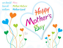 Abstract artistic true mother day. Vector illustration Stock Photography