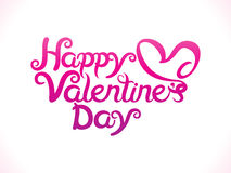 Abstract artistic valentine day text. Vector illustration Stock Image
