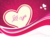 Abstract artistic valentine heart vector illustration Stock Photo