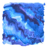 Abstract artistic watercolor background. Of blue universe space on white background with rough drawn edges. hand made paint backdrop for poster, site, cards vector illustration