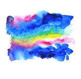 Abstract artistic watercolor background. Of colorful universe space on white background with rough drawn edges. hand made paint backdrop for poster, site, cards royalty free illustration