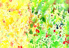 Abstract artistic watercolor background. Hand painted watercolor background, abstract bright colors Stock Image