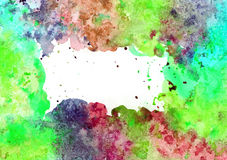 Abstract artistic watercolor background. Hand painted watercolor background, abstract bright colors Stock Photography
