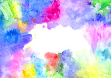 Abstract artistic watercolor background. Hand painted watercolor background, abstract bright colors Royalty Free Stock Photo
