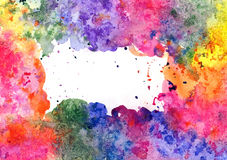 "Abstract artistic watercolor background  (mixed colors, drops and ""salt effect""). Hand painted watercolor background, abstract bright colors Stock Image"