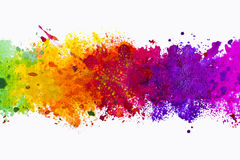Abstract artistic watercolor splash background vector illustration