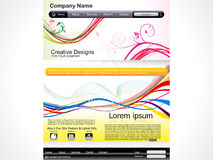 Abstract artistic web template. Vector illustration Royalty Free Stock Image